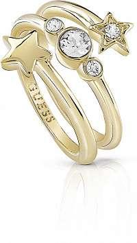 Guess Hviezdny prsteň s kryštálmi UBR84003 58 mm