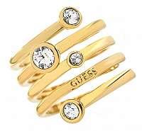 Guess Luxusné špirálovitý prsteň UBR84056 mm