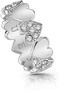Guess Romantický prsteň Heart Bouquet UBR85024 mm