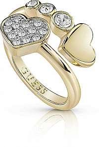 Guess Srdiečkový prsteň s kryštálmi UBR84053 mm