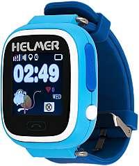 Helmer Chytré dotykové hodinky s GPS lokátorem LK 703 modré
