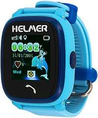 Helmer Smart dotykové vodotesné hodinky s GPS lokátorom LK 704 modré