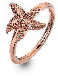 Hot Diamonds Luxusné ružovo pozlátený prsteň s pravým diamantom Daisy RG DR212 60 mm