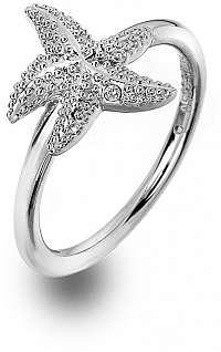 Hot Diamonds Luxusný strieborný prsteň s pravým diamantom Daisy DR213 59 mm