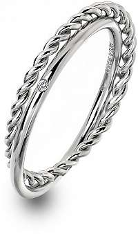 Hot Diamonds Luxusný strieborný prsteň s pravým diamantom Jasmine DR210 57 mm