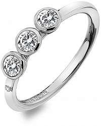 Hot Diamonds Luxusný strieborný prsteň s topaz a diamantom Willow DR205 58 mm