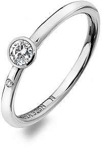 Hot Diamonds Luxusný strieborný prsteň s topazom a diamantom Willow DR206 mm