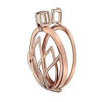 Hot Diamonds Prívesok Emozioni Rinscita Rose zlaté Plated Coin Keeper EK037