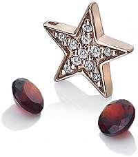 Hot Diamonds Hviezdičkový element s granátmi Anais AC111