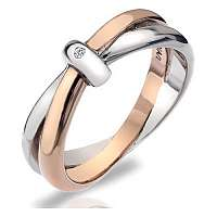 Hot Diamonds Prsteň Eternity Interlocking DR112 58 mm