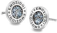 Hot Diamonds Strieborná náušnice Emozioni scintilla Blue Peace EE007