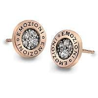 Hot Diamonds Strieborné náušnice Hot Diamonds Emozioni Pianeta Rose Gold DE403