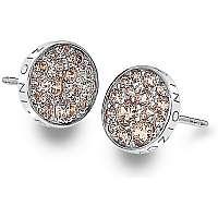 Hot Diamonds Strieborné náušnice Hot Diamonds Emozioni scintilla Champagne DE454