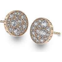 Hot Diamonds Strieborné náušnice Hot Diamonds Emozioni scintilla Rose zlaté DE457