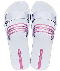 Ipanema Dámske šľapky New Fem301-21784 White/Clear/Pink-42