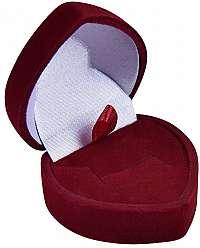 JK Box Bordó darčeková krabička na náušnice alebo prsteň F-75 / A10