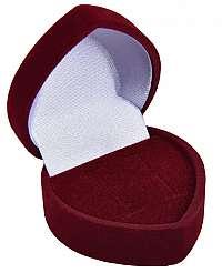 JK Box Bordó darčeková krabička na náušnice Srdce F-75 / NA / A10