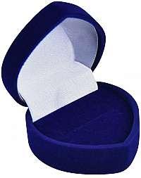 JK Box Modrá darčeková krabička na náušnice alebo prsteň F-75 / A14