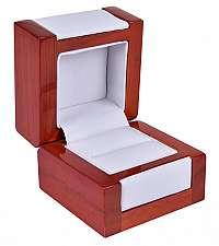 JK Box Svetlá drevená krabička na prsteň DN-2 / A1