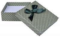 JK Box Zelená Bodkovaná krabička na súpravu šperkov KK-5 / A19
