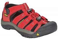 KEEN Detské sandále Newport H2 Ribbon Red/Gargoyle