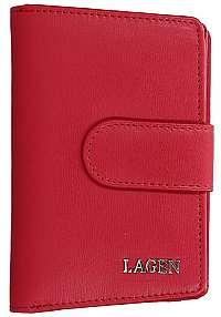 Lagen Dámska kožená peňaženka313 Red