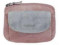 Lagen Dámska kožená peňaženka 786-382 Plum Silver
