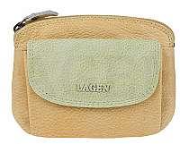 Lagen Dámska kožená peňaženka 786-382 Yellow/Green