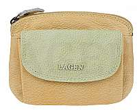 Lagen Dámska kožená peňaženka 786-382 Yellow Green
