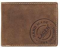 Lagen Pánska hnedá kožená peňaženka Brown81/C