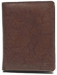 Lagen Pánska kožená hnedá peňaženka Brown V-2