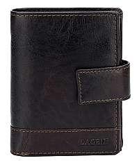 Lagen Pánska kožená peňaženka Dark Brown V-27/T