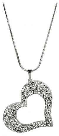Levien Trblietavý náhrdelník Srdce so sypanými kryštály