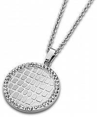 Lotus Style Oceľový náhrdelník s kryštálmi LS1778-1 / 1