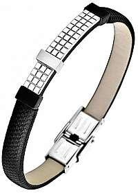 Lotus Style Pánsky kožený náramok LS1756-2 / 2