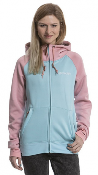 Meatfly Dámska mikina Alisha 3 Tech Hoodie H - Heather Apricot, Mint S