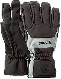 Meatfly Pánske prstové rukavice Cyclone Gloves B - Black / Grey M