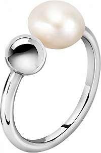 Morellato Oceľový prsteň s pravou perlou Oriente SARI15 58 mm