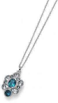 Oliver Weber Elegantný náhrdelník s tyrkysovými kryštálmi Keen 11814R