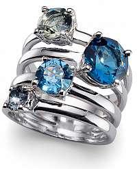 Oliver Weber Originálne prsteň Duo122 BLU M (53 - mm)
