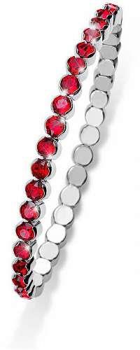 Oliver Weber Trblietavý náramok s červenými kryštálmi Party013 227