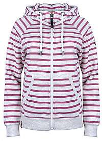 ONLY Dámska mikina Randi High neck Zip Hood Swt Oatmeal Rose Wine S