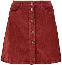 ONLY Dámska sukňa ONLGLOBAL CORD SKIRT PNT Russet Brown