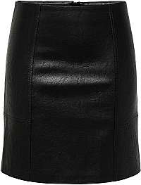 ONLY Dámska sukňa ONLSKY faux LEATHER SKIRT CC OTW Black