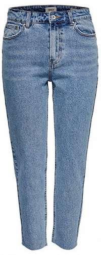 ONLY Dámske džínsy ONLEMILY HW ST RAW ANK BB MAE 0005 LBD Light Blue Denim