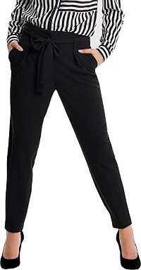 ONLY Dámske nohavice Nicole Paperbag Ankle Pants Wvn Noos Black