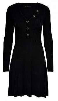 ONLY Dámske šaty ONLIZA L / S DRESS KNT Black XS