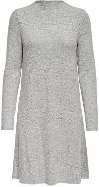 ONLY Dámske šaty ONLKLEO L / S DRESS KNT Noosa Light Grey M