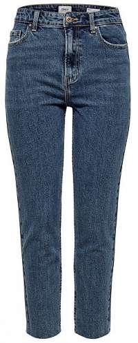 ONLY Dámske straight fit džínsy ONLEMILY 15171549 Dark Denim Blue