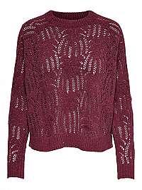 ONLY Dámsky sveter ONLELVA L / S Pullover KNT Tawny Port L